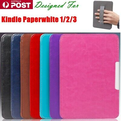 AU15.99 • Buy For Kindle Paperwhite 1/2/3 Plain Handle Shockproof Tough Leather Cover Case