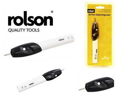 3v Rolson Tools Pen Style Engraver Etcher Wood Glass Metal Leather Steel Mobile • 7.45£