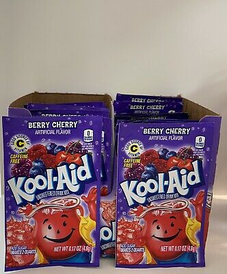 American Kool Aid Berry Cherry X 5 Sachets Good Source Of Vitamin C USA Made • 6.99£