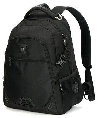AU44 • Buy  Swiss 15'' Waterproof Laptop Backpack Travel School Shoulder Bags SW9031 Black