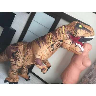 Adult Halloween T-REX Inflatable Dinosaur Costume Jurassic Dress Blowup Outfit • 28.99£