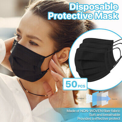 $4.88 • Buy [50 PCS] 3-Ply Disposable Face Mask Non Medical Surgical Earloop Mouth Cover