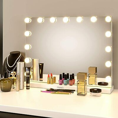 LED Hollywood Dressing Table Makeup Mirror Vanity Lighted Cosmetic Dimmable Bulb • 89.99£