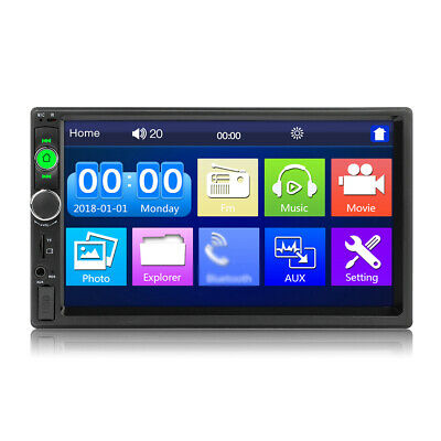 AU53.88 • Buy 7 Inch 2 Din Car Stereo Radio MP5 Player Bluetooth Head Unit AUX/USB/FM
