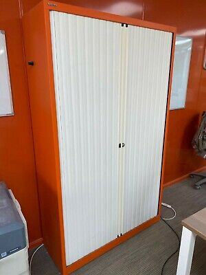 Bisley Euro Tambour 1200mm Wide 1980 High ET412/19 Stationary Cupboard • 350£