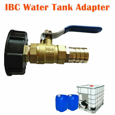 IBC Tank Adapter S60X6 Brass Garden Tap With 1  Hose Fitting Oil Fuel Water UK • 15.29£