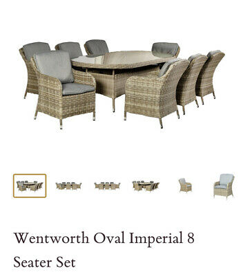 Rattan Garden Furniture 8 Seater Overall Luxury Set Pre-Orders Delivery In June+ • 2,795£
