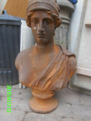 Large, Antique/Vintage Bust Of Greek Goddess 'Athena'  (Made From Cast Iron) • 1,500£