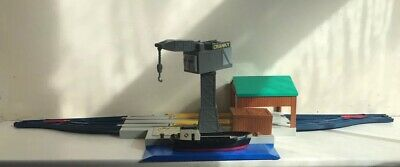 Cranky And Bulstrode At The Harbour - Trackmaster Set Thomas Tank Engine Docks • 8£
