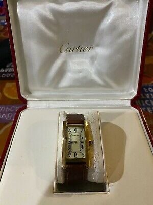 $4500 • Buy Cartier Vintage Mens Watch Used 18k Gold