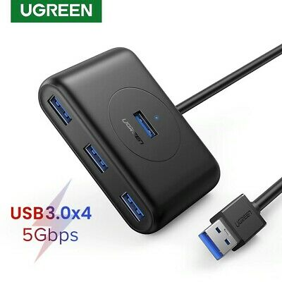 AU23.95 • Buy Ugreen 4 Port USB 3.0 Hub High Speed 5 Gbps 0.5m Cable Splitter For PC Laptop