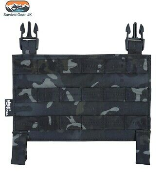 BTP Black Buckle Tek Tactical Molle Panel Airsoft Compatible With All Systems • 9.95£