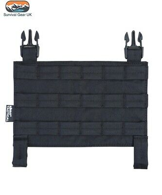 Black Buckle Tek Tactical Molle Panel Airsoft Compatible With All Systems • 9.95£
