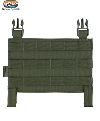 Olive Green Buckle Tek Tactical Molle Panel Airsoft Compatible With All Systems • 9.95£