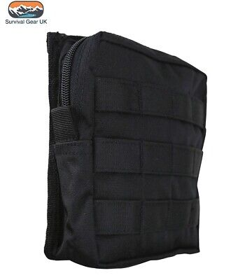 £10.74 • Buy Black Medium Army Kombat Molle Utility Pouch Military Airsoft Paintball