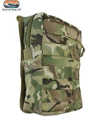£11.95 • Buy BTP Camo Molle Large Zipped Army Utility Webbing Pouch RAF Security Airsoft