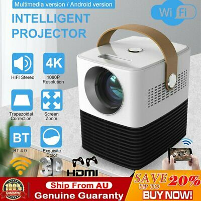 AU190.99 • Buy Portable HD 1080P Wireless Projector Wifi Bluetooth HIFI Movie Home Theatre HDMI