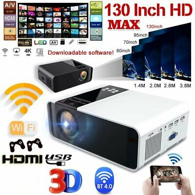 AU147.29 • Buy Portable Mini Wifi Bluetooth LED Movie Projector Android Home Theatre HDMI USB