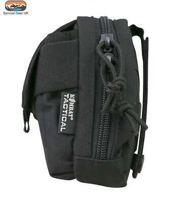 £10.74 • Buy Black Molle Micro Tactical Zipped Utility Webbing Pouch Cadet Airsoft