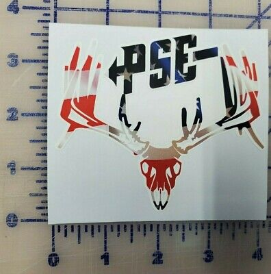 $4.69 • Buy PSE Deer Hunting Archery American Flag Buck Bow Hunting Decal Sticker Outdoor