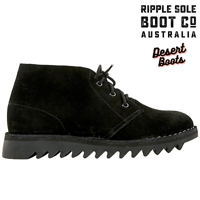 AU159 • Buy Ripple Sole Men's Harley Suede Leather Desert Boots Chukka Shoes Lace Up - Black