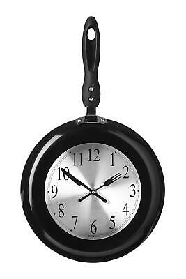 Maison By Premier Black Frying Pan Design Wall Clock Novelty Design • 18.37£