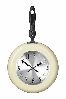 Maison By Premier Cream Frying Pan Design Wall Clock Novelty Design • 18.37£