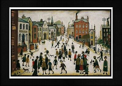 L S Lowry Unframed Art Print  Village Square  Home Decor Wall Hanging • 9.95£