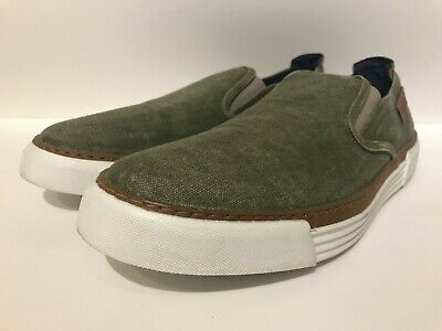 £25 • Buy Camel Active 'Racket 16' Men's Classic Green Canvas Slip-on's - NEW WITHOUT TAGS