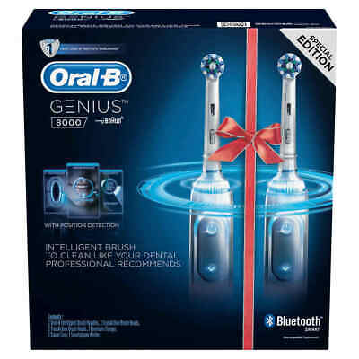 AU298.99 • Buy Oral-B Genius 8000 Dual Handle Electric Toothbrush