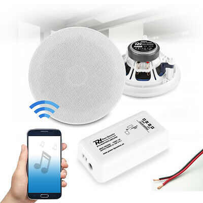6  Bluetooth Ceiling Speaker And Amplifier System Home HiFi Stereo Music Set • 105£