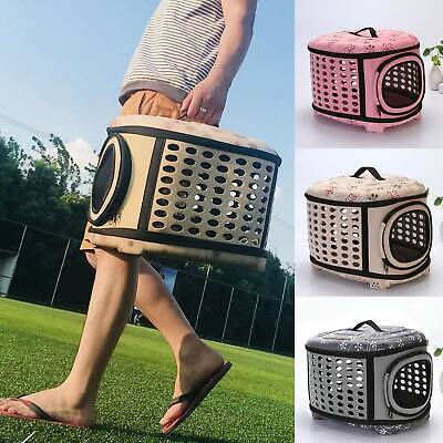 Pet Dog Cat Portable Travel Carrier Tote Cage Bag Crate Kennel Box Holder • 11.59£