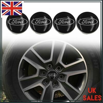 4pc Black Wheel Hub Centre Cap Ford Logo 54mm For Ford Focus Decorative Emblem • 9.89£
