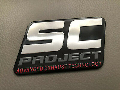 3D Sc Sport Motorcycle Exhaust Aluminium Sticker Decal Heat Proof Resistant • 4£