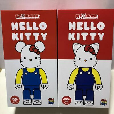 $441.36 • Buy Super Rare Hello Kitty Bearbrick Meowbrick 400 Set Blue Overalls Ver. Be Rbrick