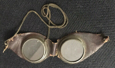 $49.99 • Buy Vintage Steampunk Auto Glasses Goggles Antique Motorcycle Aviator Leather Round