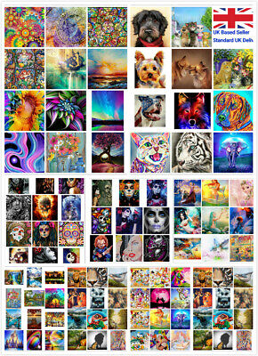£9.99 • Buy Large 5D Diamond Painting Embroidery Cross By Numbers Arts Kit Decor DIY UK Gift