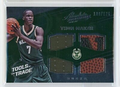 AU14.99 • Buy 2016-17 Thon Maker 109/125 Jersey Patch Panini Absolute Tools Of The Trade #24RC