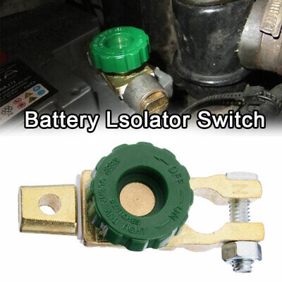 Car Battery Isolator Switch Cut-0Off Disconnect Terminal Master Shut Kill Switch • 3.65£