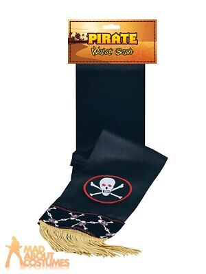 Adult Pirate Waist Sash Belt Buccaneer Shipmate World Book Day Fancy Dress  • 4.49£
