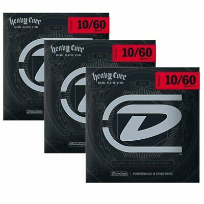 AU32.08 • Buy Dunlop Guitar Strings Electric 3 Sets Heavy Core 7 String Guitar 10-60