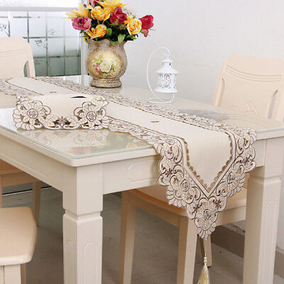 £6.30 • Buy Dining Table Runner Party Coffee Table Cloth Cover Mat Modern Home Decor TO