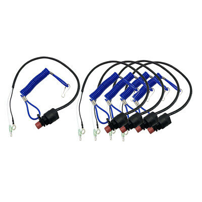 AU32.25 • Buy 5 Pieces Boat Outboard Kill Stop Switch & Safety Tether Lanyard For Yamaha