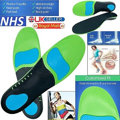 £6.99 • Buy Orthopedic Insoles For Arch Support Plantar Fasciitis Flat Feet Back Heel Pain