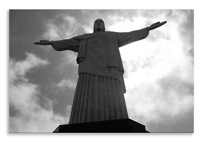 Christ The Redeemer Face Blue White Rio Landscape Wall Art Picture Home Decor • 34.19£