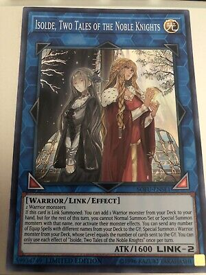 YUGIOH SOFU-ENSE1 Isolde, Two Tales Of The Noble Knights Super Rare Limited Ed • 2.47£