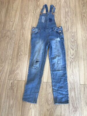 Girls Dungarees Age 12-13 Years Cherokee Blue Denim D606 • 12.99£
