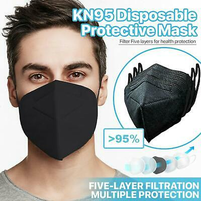 AU6.95 • Buy 2 X KN95 Face Mask Black P2 Particulate Filter N95 Protective Unisex Respirator