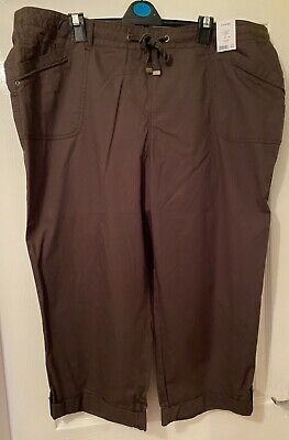 Size 22 George Khaki Cropped Trousers - New With Tags • 6.99£