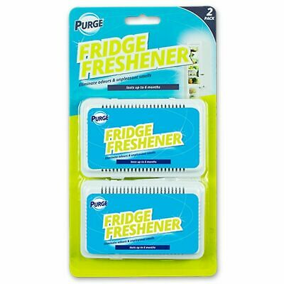 2 FRIDGE FRESHENER Deodoriser Kitchen Air Remove Smell Eliminate Bad Odour. • 2.49£